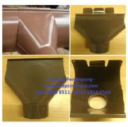 Corong penampung talang air 1/2 lingkaran bahan metal baja zincalume
