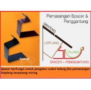 Spacer/ pengatur sudut talang air 1/2 lingkaran metal baja zincalume