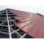 Paket Rangka Atap Baja Ringan C75.100 dan Genteng Metal Color