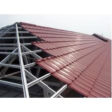Paket Rangka Atap Baja Ringan C75.075 dan Genteng Metal Color